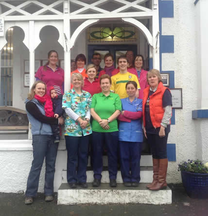 staff at Prospect House Vets Colwyn Bay