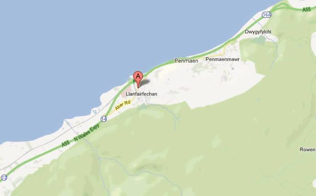 map llanfairfechan