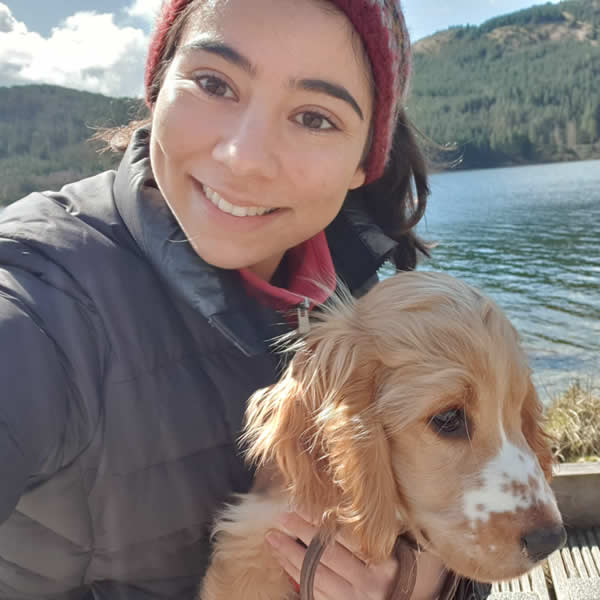 Vet Zara and puppy Mac